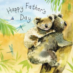 FIZ37 - Card For Fathers Day Koalas